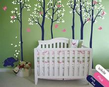 Morden Style Kids Nursery Bedroom Lovely Decorative Tree Wall Sticker Baby Decal Tree With Cute Elephant Birds Vinyl Mural T-2 birds on elephant