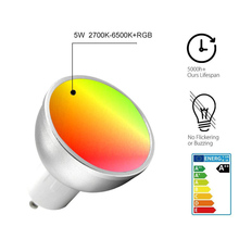 Dropship Smart Bulb WiFi GU10 RGBW 5W Led Dimmable Compatible with Alexa & Google Home Remote Control By Smartphone Tablet 50W