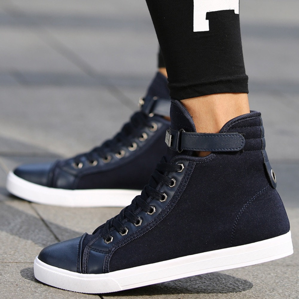 Skateboard Shoes Mens Ankle Boots Lace