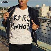 Men T-Shirt KARL WHO Graphic T Shirts Funny Tee Shirt Femme Short Sleeve Tees European Fashion Summer Karl Women Tops Tumblr