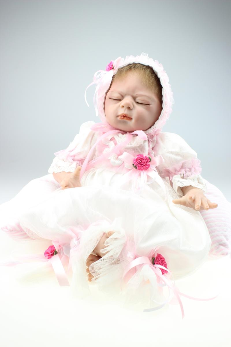 55CM Reborn Baby Doll Lifelike Simulation Doll Babies Toys Sleeping Princess Dolls Girl Brinquedos Toys Wedding Chrismas Present55CM Reborn Baby Doll Lifelike Simulation Doll Babies Toys Sleeping Princess Dolls Girl Brinquedos Toys Wedding Chrismas Present