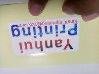 White Sticker Die Cut Labels