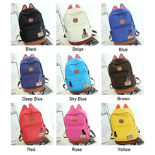 26595b4e39 2019 Female Cat Ears Backpack Canvas japanese Student Girl school bags  Travel Shoulder Bag Lovely bagpack for women mochila bts