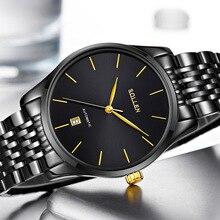 Новая Мода топ luxury brand Sollen часы мужчины механическая автоматическая нержавеющей стали ремешок ультра тонкие часы relogio masculino