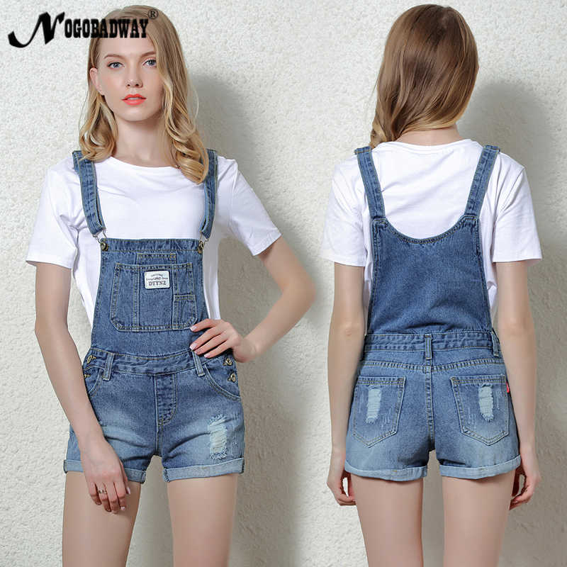 d6c082e7b49 Short Denim Jumpsuit Rompers For Women Summer Jeans Overalls Casual Shorts  Playsuits Slim Dungarees Femme 2018