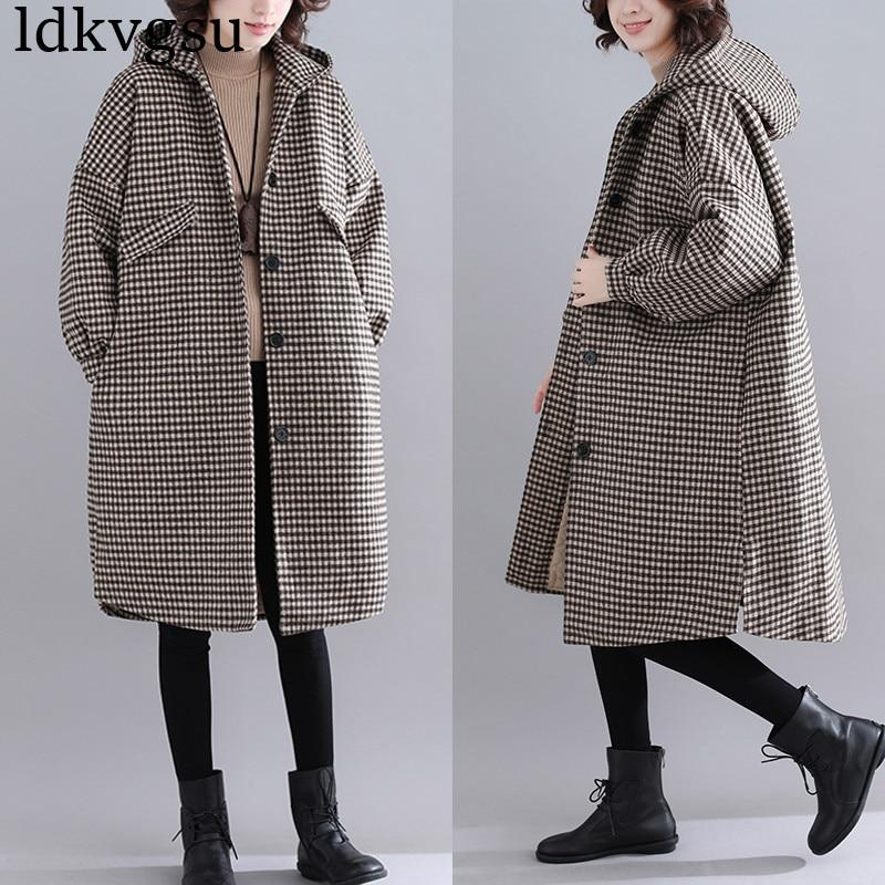 newest collection 904d4 600c3 2019 neue Mode Herbst Winter Frau Mantel Langen Abschnitt Lose Wolle  einreiher Freizeit Damen Mantel Weiblichen Jacken V147