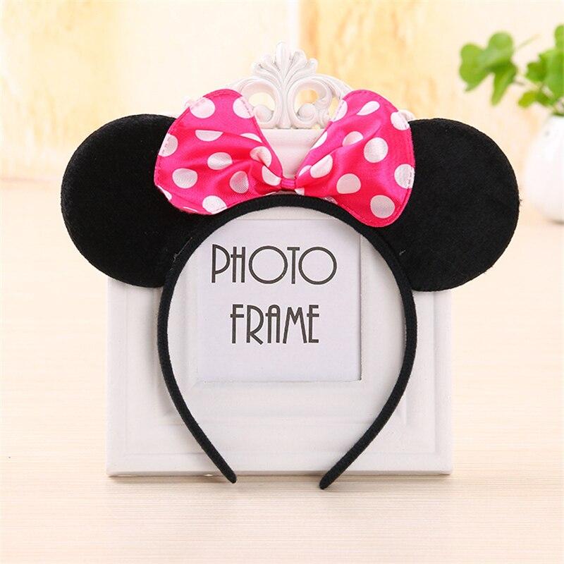 Mickey Ears Headband Minnie Shiny Hairband Mouse Ears Christmas Supplies Headbands Girl Hair Bow Hair Accessories Party Supplies
