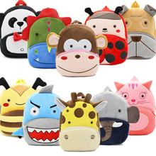 2018 Cartoon Kids Plush Backpacks Mini Kindergarten schoolbag Plush Animal Backpack Children School Bags Girls Boys Backpack(China)