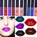 Brand labiales batom Waterproof Long-lasting Lip Gloss Pigment Dark Purple Black Red Velvet Matte Liquid Lipstick Lot Makeup