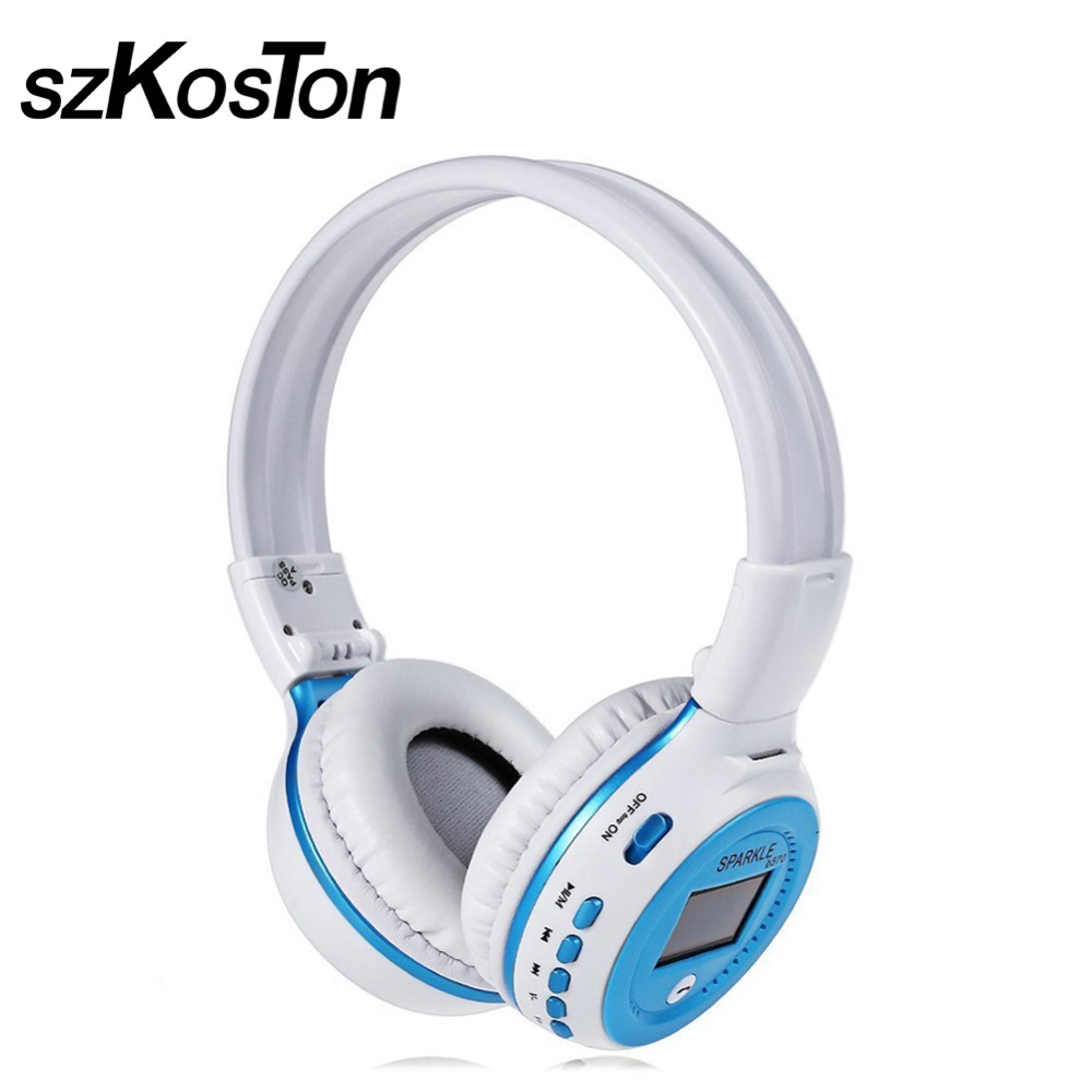 Fashion Bluetooth Headphone Foldable Earphone Multi-Function Wired And Wireless Headset With LCD Screen For Apple Smartphones PC