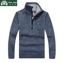 Casual Autumn Winter Sweater Men Fashion Pullovers Stand Collar Slim F
