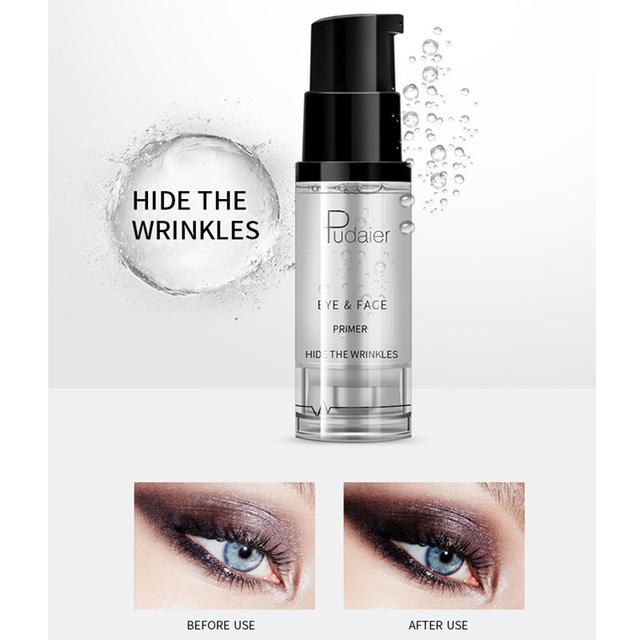 New Makeup Brand Pudaier Easy to Wear Liquid Primer for Face Eye Makeup Moisturizer Brighten Base Primer Cosmetics 3