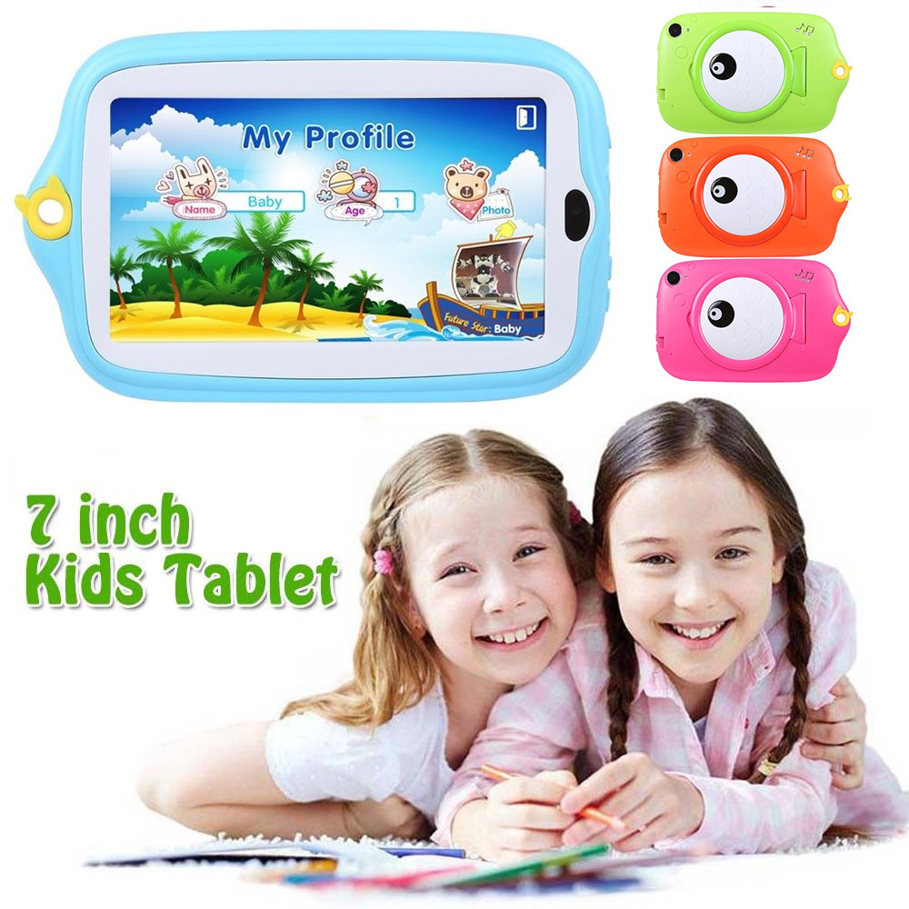 Mode 7 Zoll Kinder Android 4.4 Tablet Pc 8g Quad Core Wifi Kamera Kinder Geschenk Smart Tisch Mp4 Player Tragbares Audio & Video Unterhaltungselektronik