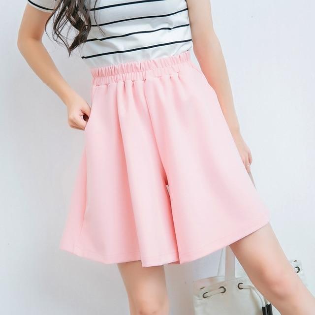 Customize Women Summer New Fashion Plus Size 3XS-10XL Medium Length Skirts Shorts Ladies Casual Cute Chiffon Wide Leg Shorts