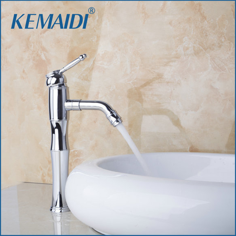 KEMAIDI Bathroom Faucet Hot and Cold Swivel Spout Bathroom Basin Sink Mixer Single Lever Tap Brass Faucet Deck MountedKEMAIDI Bathroom Faucet Hot and Cold Swivel Spout Bathroom Basin Sink Mixer Single Lever Tap Brass Faucet Deck Mounted