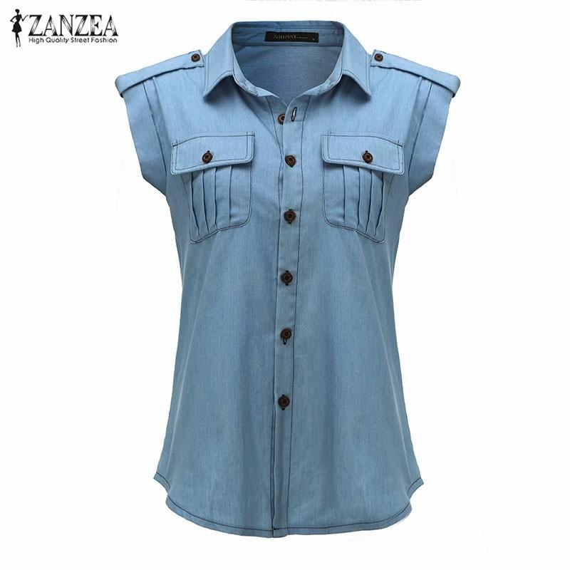 HTB10tGbNXXXXXXFXpXXq6xXFXXXU - Blouses Sexy Sleeveless Jeans Denim Blue Shirts Female Casual
