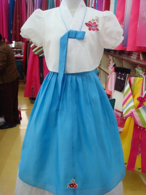 Modern hanbok Fusion-Hanbok-Custom-Made-Modern-Hanbok-Korean-Traditional-Dress-Modernized-Hanbok-Korean-National-Costume-Short-Sleeved