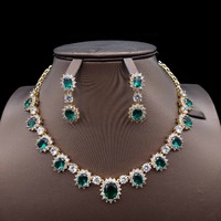 for women fashion Dubai African bridal bridesmaid Wedding zircon Jewelry Set engagement India necklace earrings