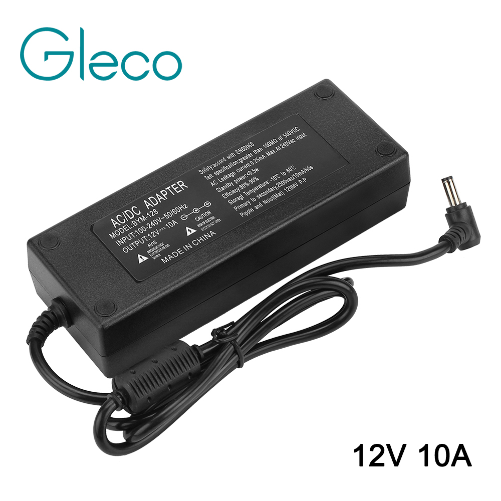 DC 12V 10A 120W Power Adaptor LED Driver power supply for LED Strip Light bar light US/EU/AU/UK for choice 10a 120w dc power transformers 12v 10a 120w ac100 240v s 120 12 led drive switc power supply adapter for rgb led strip 12v10a