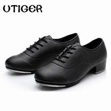 b3c76598c7 2019 Tamanho 25-44 Homens Adultos Crianças Menino Oxford Lace Up Sapatos de  Sapateado Couro