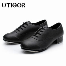2019 Size 25 44 Adult Men Children Boy Tap Dance Leather or PU Oxford Lace Up Shoes Girls Women Tap Dancing shoes WD194
