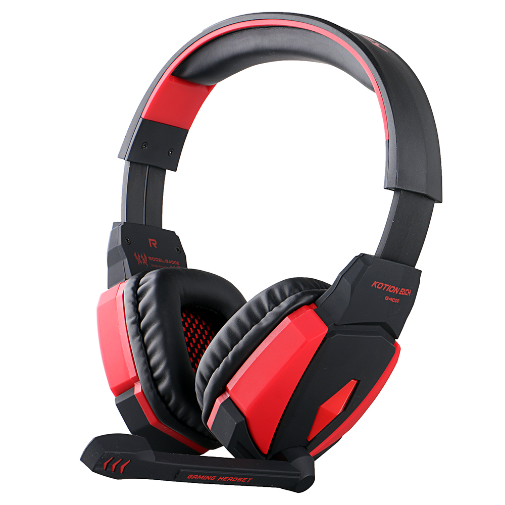 EACH G4000 USB Version Professional Gaming Headphone Headset Headband With Microphone Volume Control LED Light For PC Game