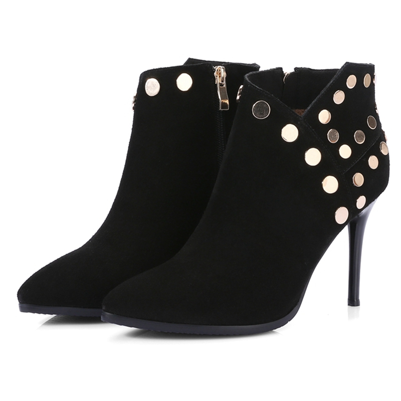Básicos Zyl1896 Botas Mujer 42 De brown Alta 8cm Zapatos 34 Super up Tamaño Black Tacones Enmayla Punta Finos ZxwBqAXW