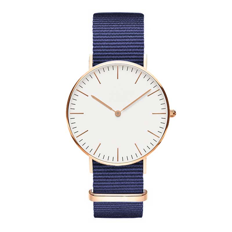Luxury Big Brand Nylon Strap Women Watch Fashion Quartz Canv