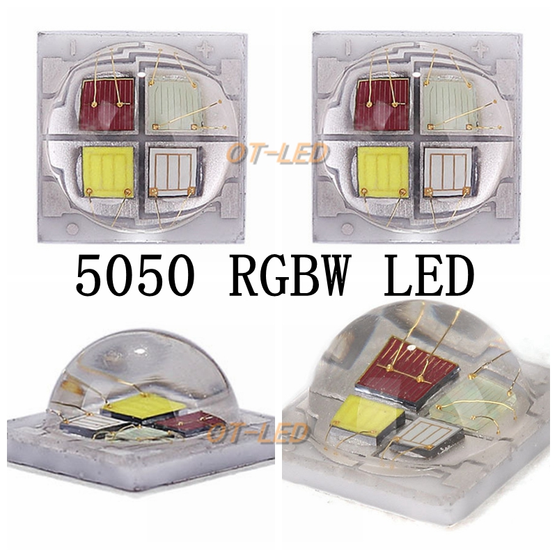 10pcs 5050 4Chips ceramic substrate high power 6-9W led Diode Chip SMD5050 RGBW full color instead of XML RGBW for Stage Lightin