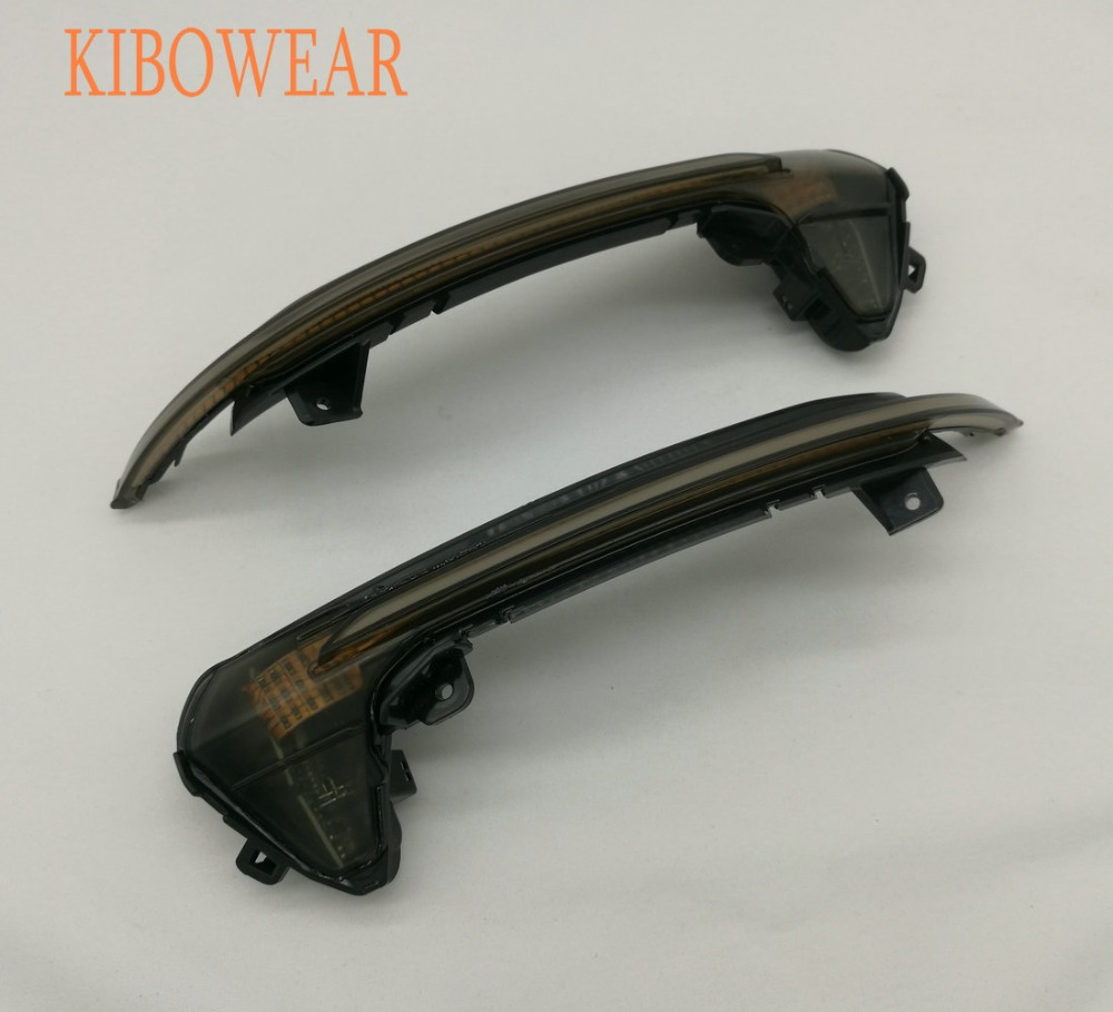 Kibowear for Audi A6 C7 S6 4G RS6 Dynamic Scroll LED flowing Turn Signal Side Mirror Lights Sequential blinker 2013 2015 2017 carbon fiber replaced side mirror cover for audi a6 c7 2012 2016 a6 s6 rs6 2013 2016