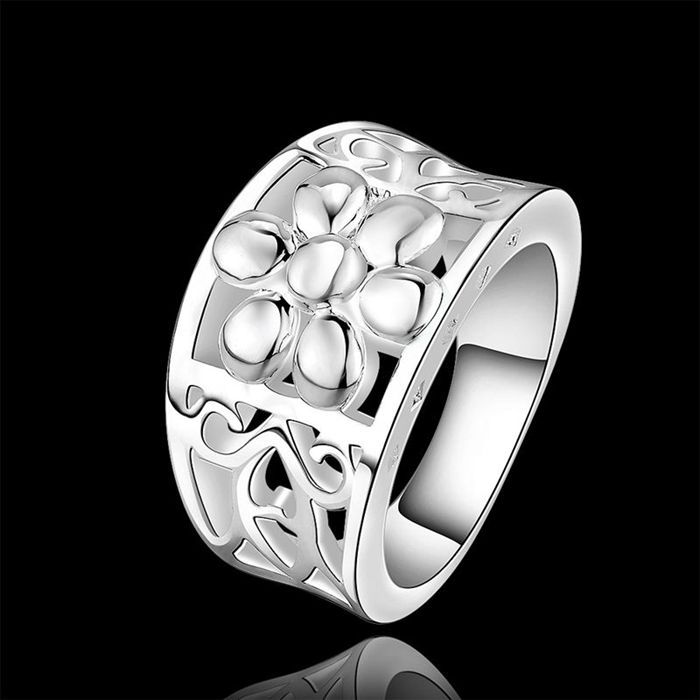 Wholesale silver plated Ring,Fashion Jewelry New Design Finger Ring For Lady SMTR472