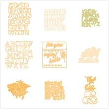 Eastshape 26 Alphabet Words Dies ABC Metal Cutting New 2019 for DIY Scrapbooking Decorative Crafts Paper Cards Die Cut