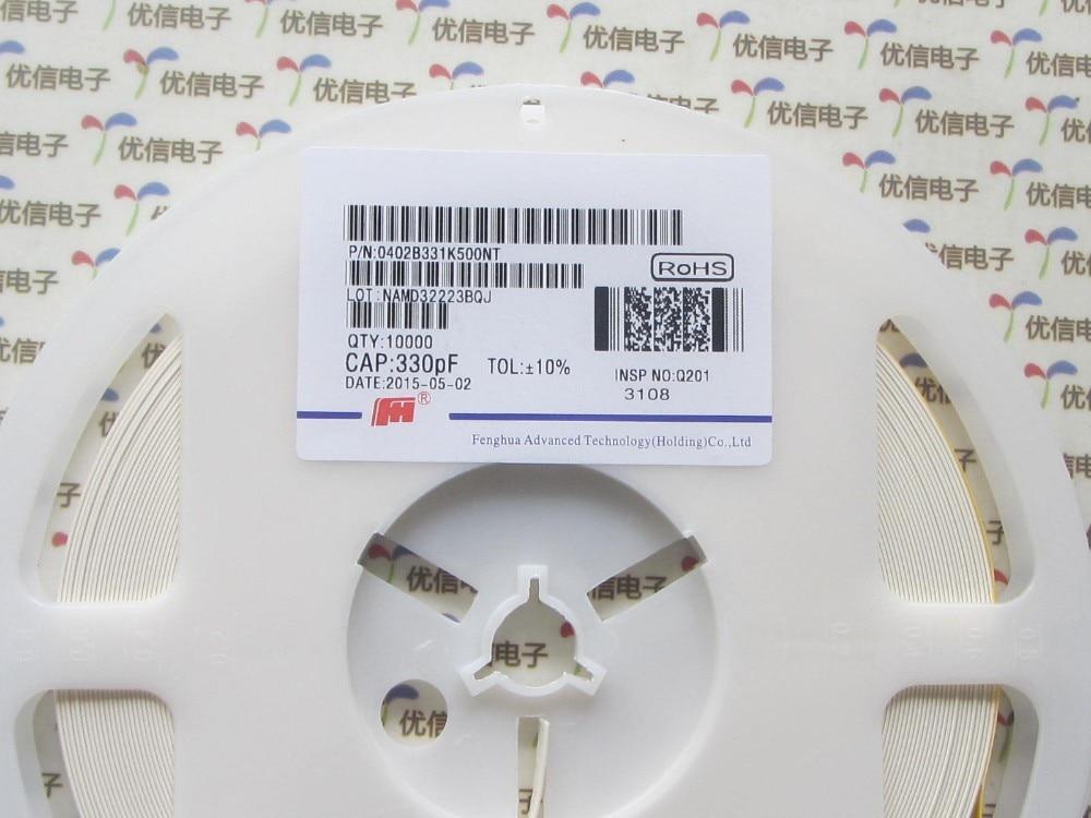 500pcs 330PF 0402 quality ceramic capacitor 0402 Ceramic capacitor 331 330PF 331K 50V 10 capacitor