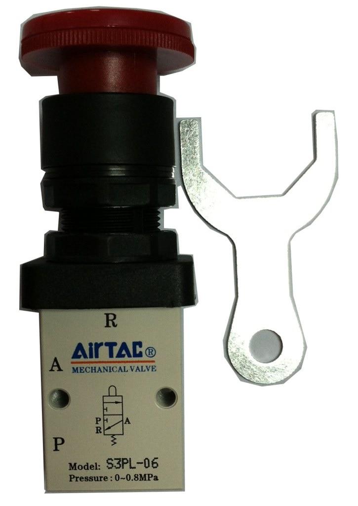Supply AirTac genuine original mechanical valve S3PL-06. supply airtac genuine original mechanical valve s3hl m5