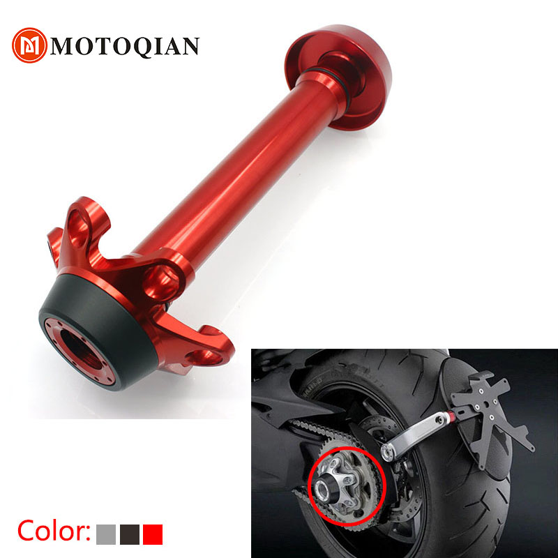For Ducati Monster 1200 Rear Axle Guard Accessories Motorcycle Fork Crash Frame Sliders Wheel Protector Motorbike Parts fit for ducati monster 695 2007 2008 front rear axle fork crash sliders cap blue motorcycle falling protection