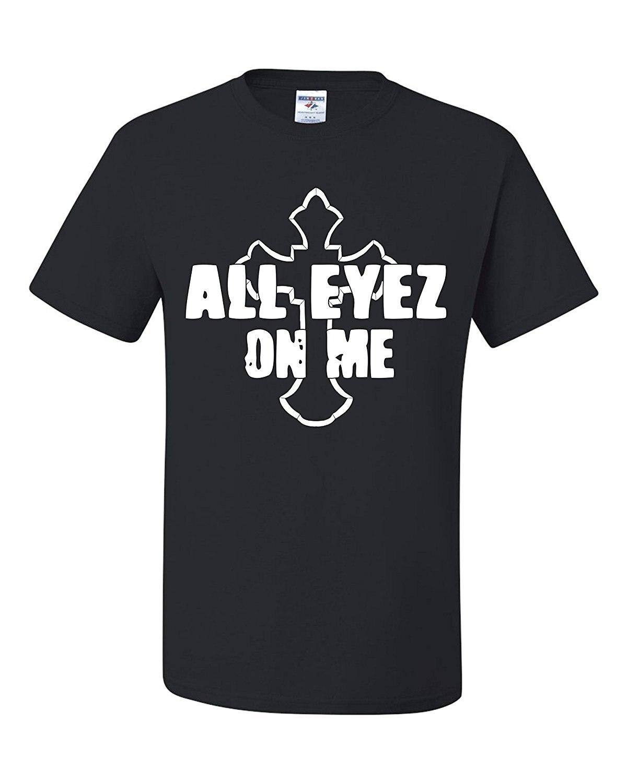 Jay z black t shirt white cross - All Eyez On Me 2pac Tupac Shakur Cross Unisex Black T Shirt Movie White Print Funny Cool Fashion Printed Men S T Shirt