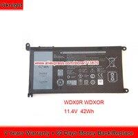 Original 11.4V 42Wh T2JX4 WDXOR WDX0R Battery for Dell Inspiron 13 5378 13 7368 15 5538 15 5568 Ins14 7460 D1525G 15 7000