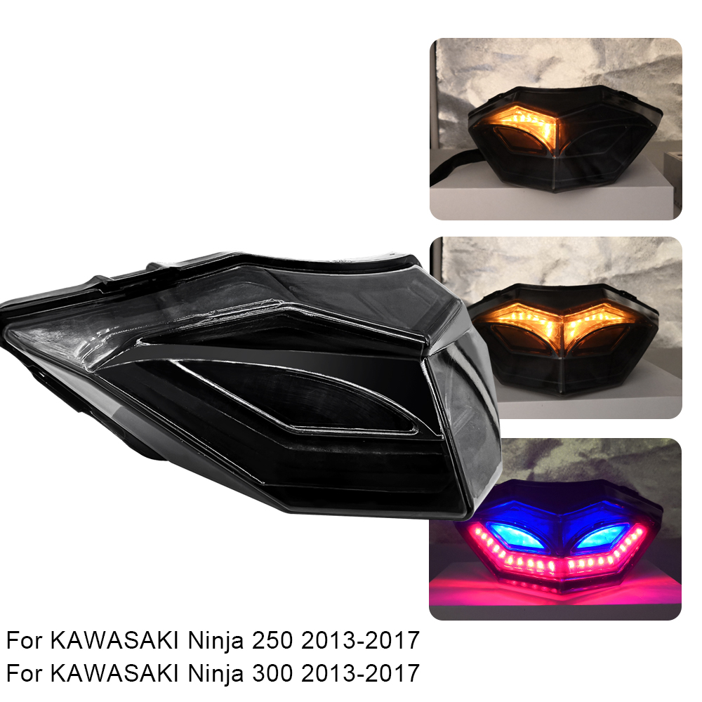 Motorcycle Bike Rear Tail Stop Light Lamp For KAWASAKI Ninja 250 300 2013 2014 2015 2016 2017 Taillight Rear Lamp Braking Lights