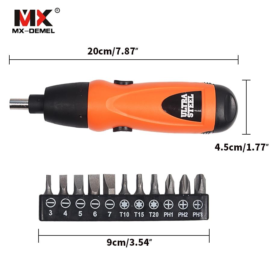 Destornillador eléctrico MX-DEMEL Destornillador inalámbrico con - Herramientas eléctricas - foto 4