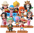 One Piece Action Figures Luffy Sanji Brook Chopper Franky Toys Dolls Model Collection Toys For Children 10 Pieces/Set PVC 68 #EB
