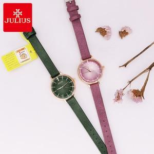 Image 5 - New Julius Womens Watch Japan Quartz Cutting Glass Lady Hours Fashion Clock Bracelet Real Leather Girls Birthday Gift Box
