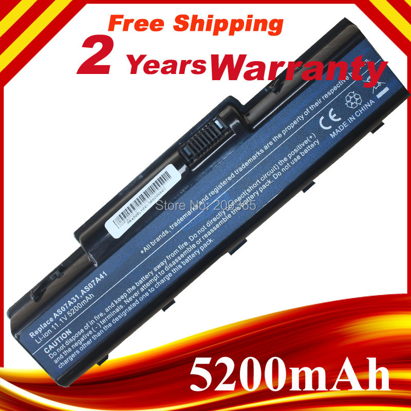 Laptop Battery AS07A31 AS07A41 Battery For ASER Aspire 4720 4730 5735Z 5737Z 5738 5738DG 5738G 5738Z 5738ZG 5740 5740DG 5740G 10 8v 11 1v 12 cell laptop battery pack for acer aspire 5340 5542 5738z 5740 as5740 as5542 as07a75