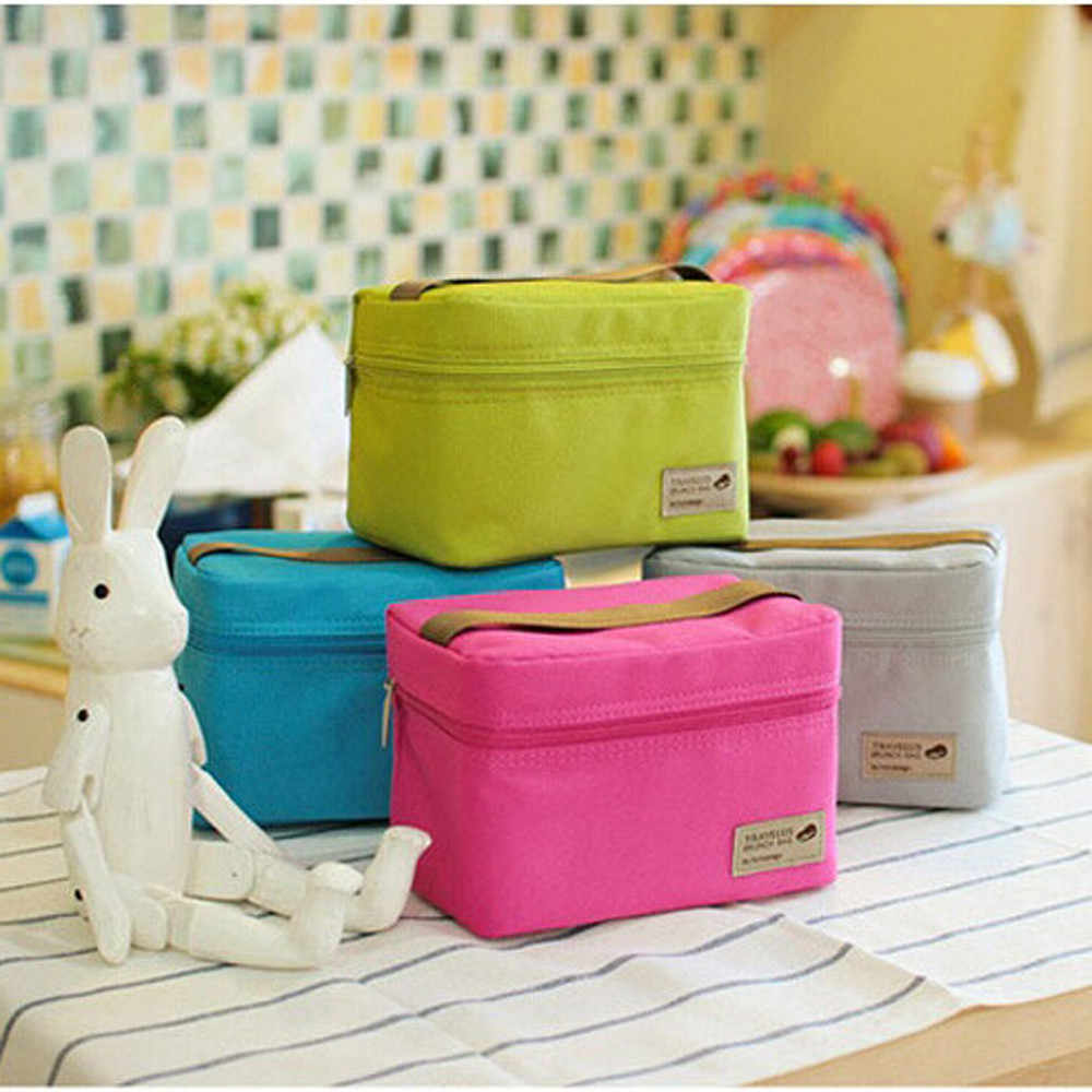 Outdoor Portable Insulated Thermal Food Container Zipper Bento Lunch Box Picnic Storage Bag Gadget Kitchen Accessories Tableware