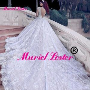 Image 3 - Dubai arapça lüks Sparkly 2020 gelinlik Bling boncuklu balo boncuk Illusion gelinlik gelin elbiseleri Brautkleid