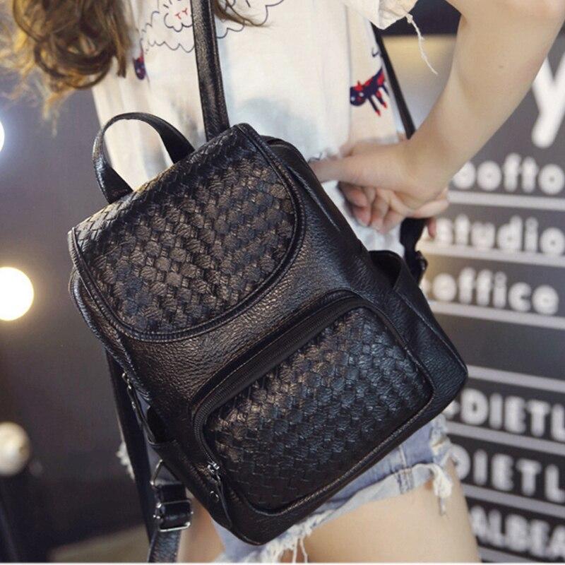 New Fashion pu leather backpacks for women leisure black women backpack student school <font><b>bag</b></font> for girls female back pack ladies <font><b>bag</b></font>