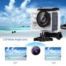 Yuntab W9 Wifi action sports camera 2 inch LCD Digital 30-Meter waterproof sport DV camcorder with charger(silver)