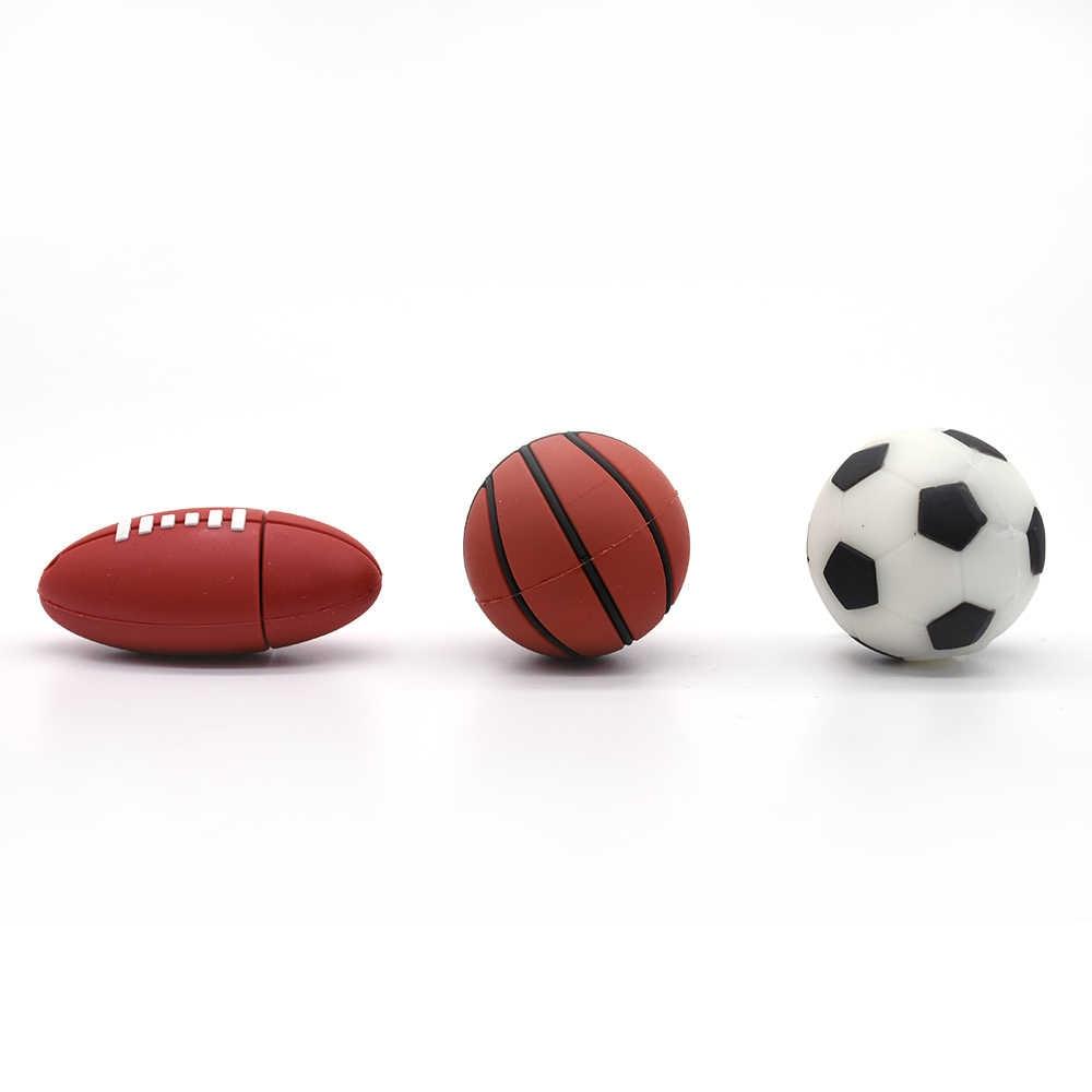 Sport Rugby/football/basket/tennis stylo lecteur USB clé USB 4 GB 8 GB 16GB32GB 64 GB Flash mémoire Stick u-disk cadeau