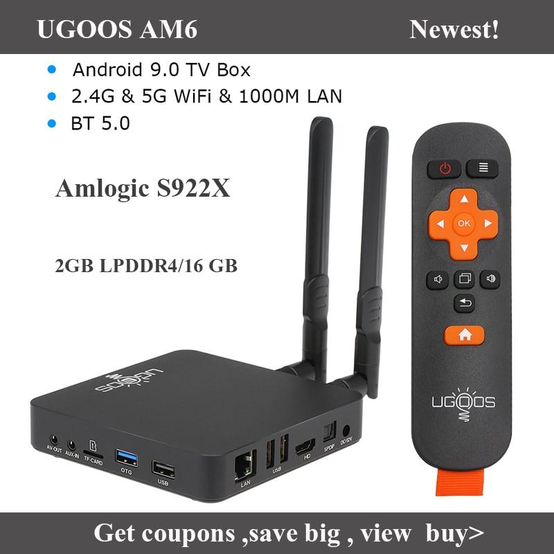 UGOOS AM6 TV Box Smart Android 9.0 Amlogic S922X 2GB LPDDR4/16GB