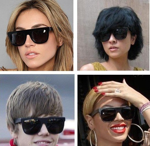 c05cfda4c1 100% UV resistance material vintage fshion Super flat top women s sunglasses(3color  mix) SN-015