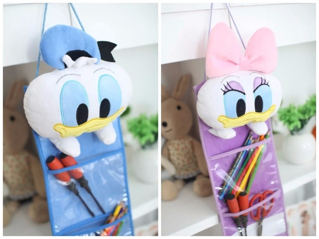 Plush toy 1pc 60cm cartoon sweet Donald Duck Daisy receive bag hanging storage bag creative birthday & Plush toy 1pc 60cm cartoon sweet Donald Duck Daisy receive bag ...
